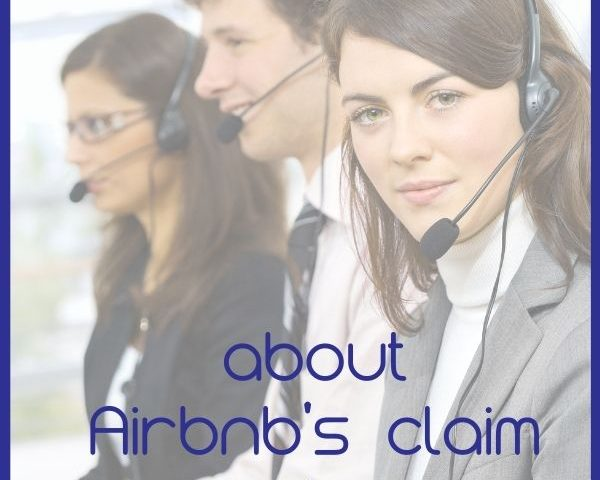 About Airbnb's claim center